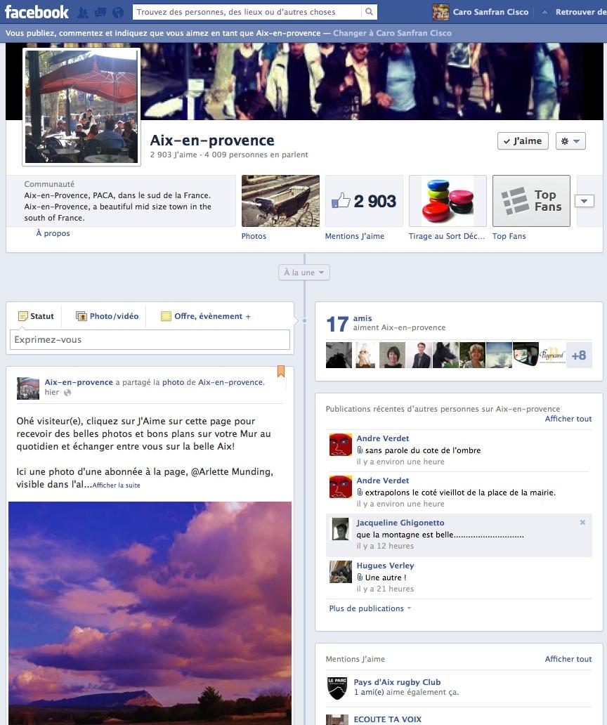 Aspirationn'elle - Expert social media - Présentation et visuel d'une page Facebook