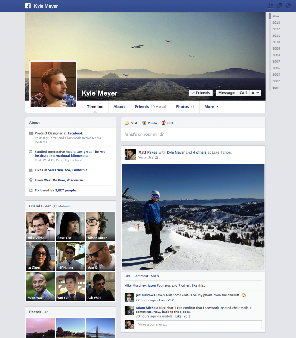 Aspirationn'elle - Expert social media - Screenshoot d'un profil Facebook