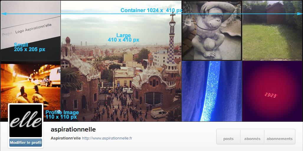 Aspirationn'elle - Community Manager Freelance Autoentrepreneur Lille - Cover et profil Instagram