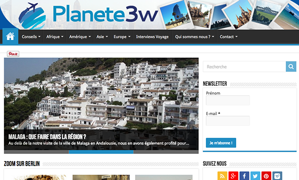 Notre blog voyage Planete3W.fr